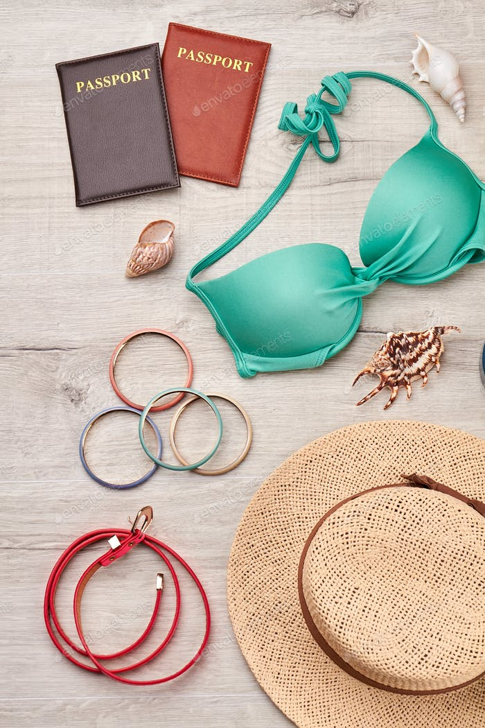 Summer accessories and fashion set