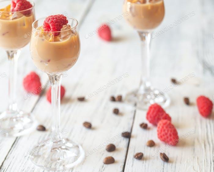 Three Glasses Of Irish Cream Liqueur