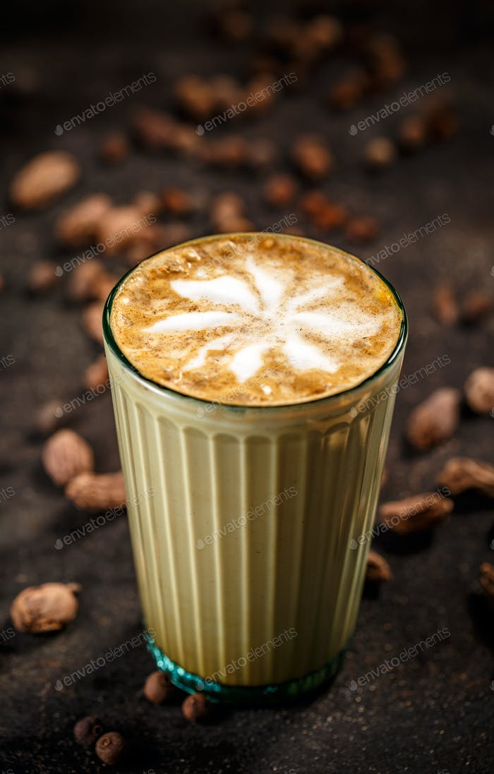 Oriental flavoured coffee latte