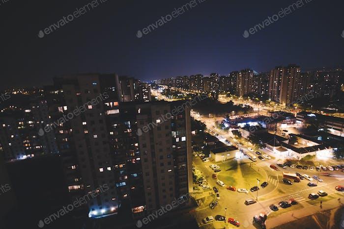 Stadtbild Nachtlandschaft