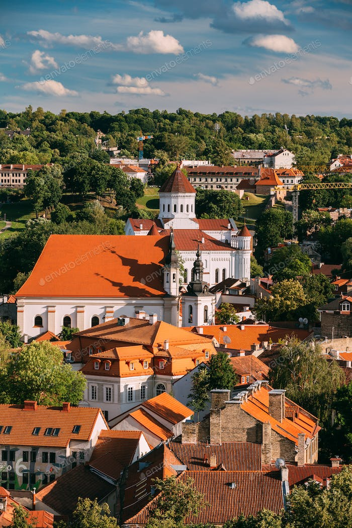 Vilnius, Lithuania. View Of Cathedral Of Theotokos And Church Of