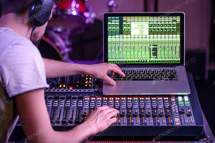 Digital mixer in a recording Studio