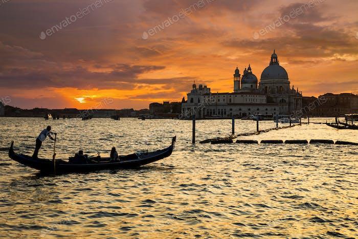 Venedig Gondeln am San Marco Platz, Venedig, Italien