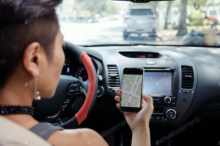 Follwoing navigation app