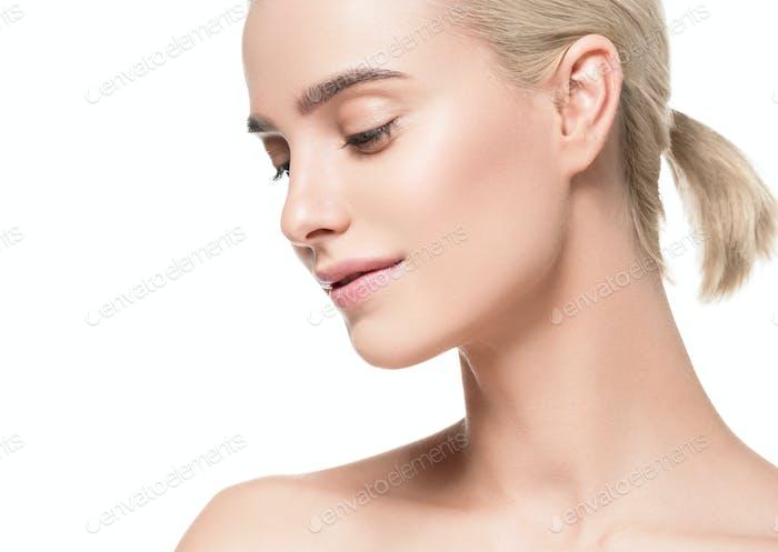 Natürliche gesunde Haut Schönheit weibliche Makro