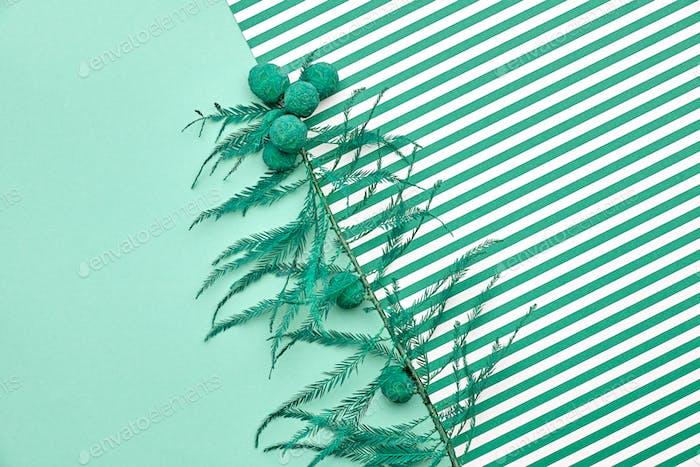 Summer Fashion.Minimal.Green Tropical Leaf