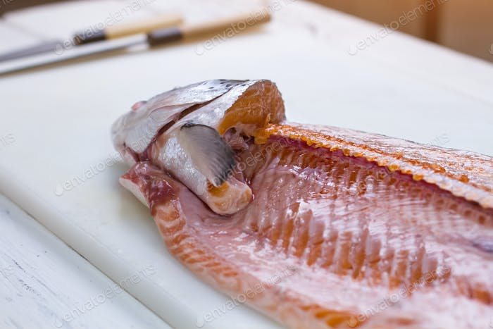 Part of raw fish