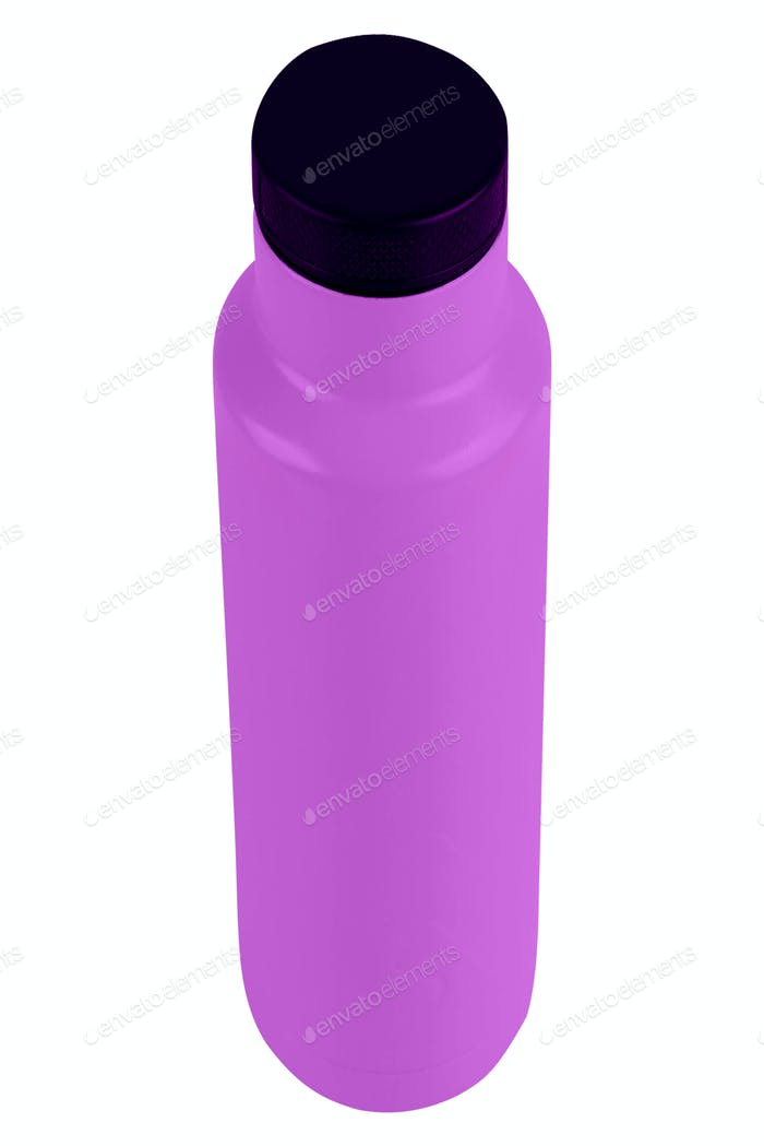 Purple Bottle of Cleaning Product