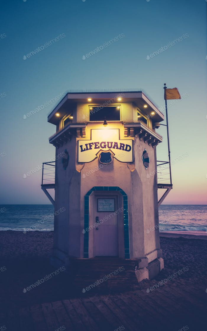 Vintage Lifeguard Station
