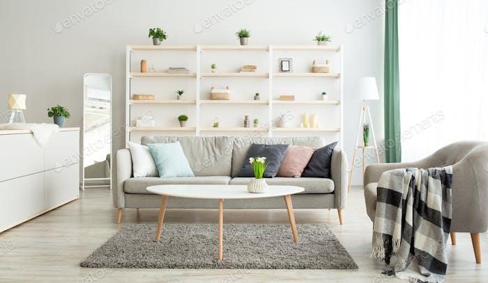 Apartamento nuevo, alquiler inmobiliario y anuncio de apartamento moderno