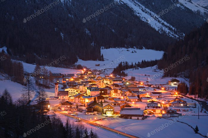 Austrian Mountain Village