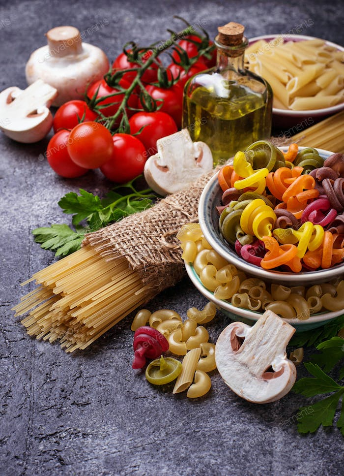 Selection of Italian food