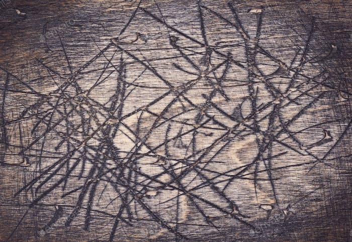scratched wooden board background texture
