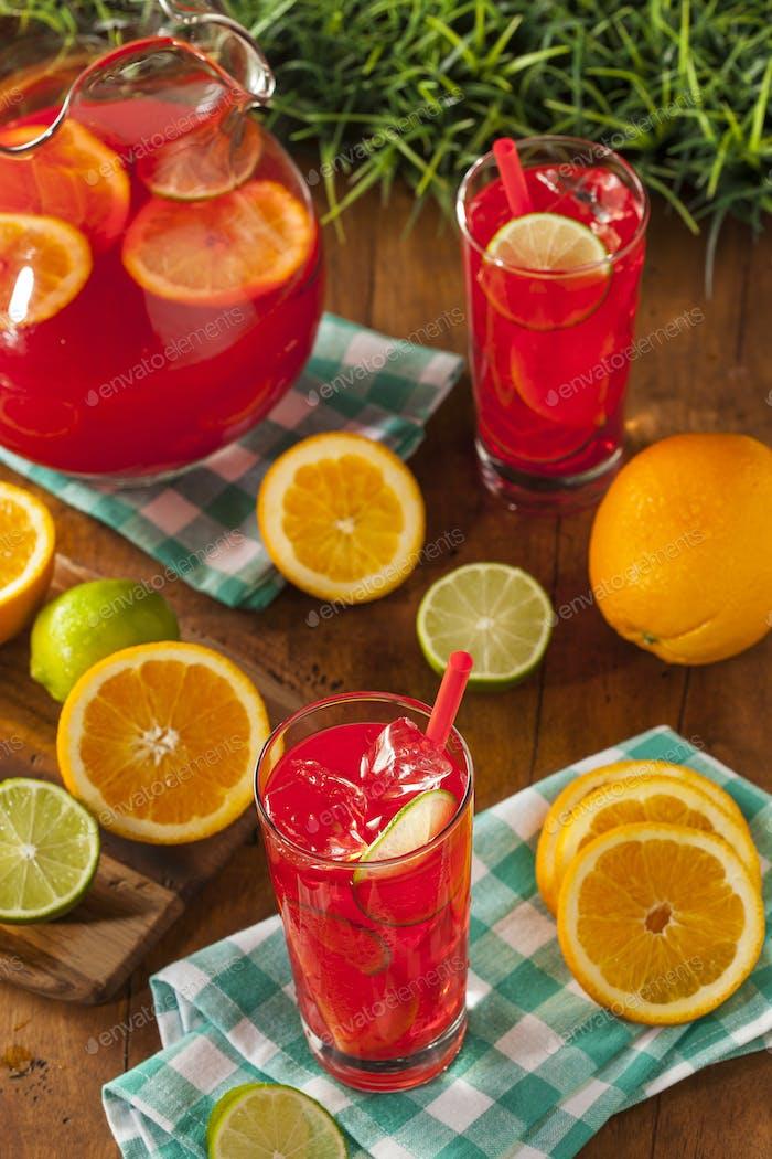 Erfrischende kalte Früchte Punch