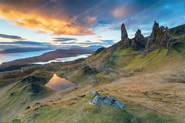 Der alte Mann von Storr auf der Isle of Skye