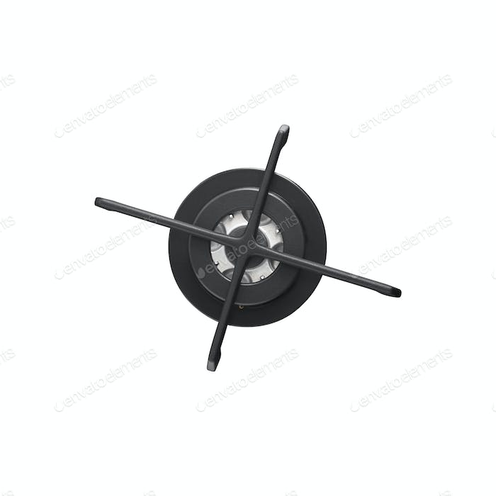 gas burner isolated on white