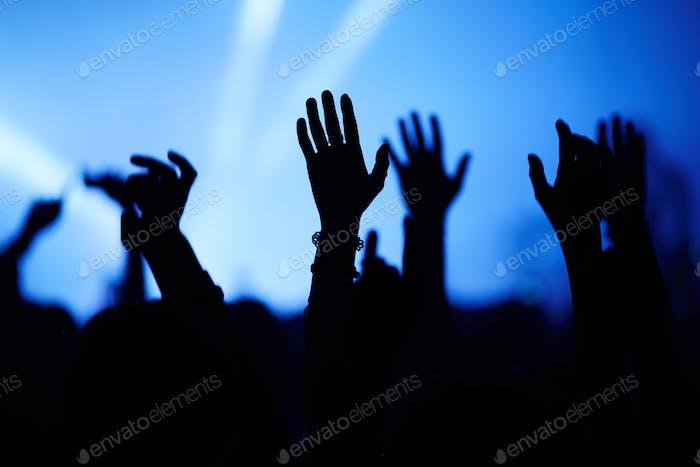 At pop concert