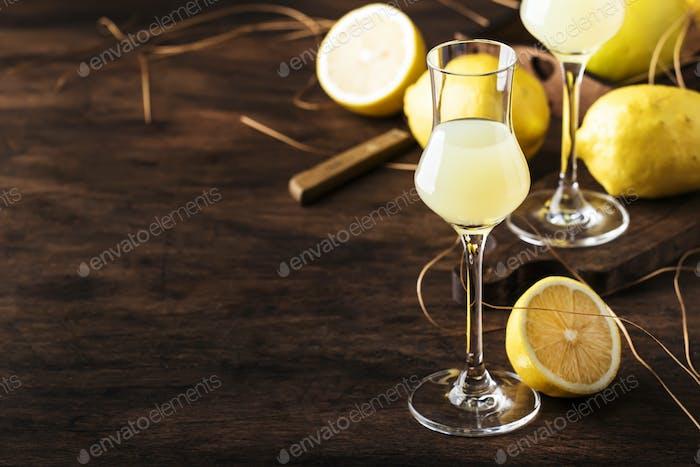Limoncello, sweet Italian lemon liqueur