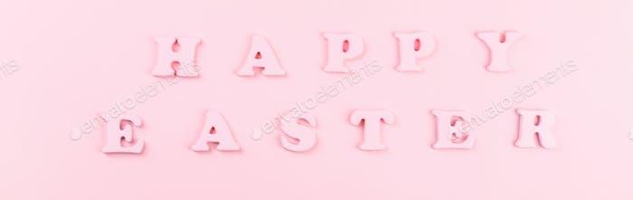 Frohe Ostern Grußkarte mit der Aufschrift. Konzept der festlichen Gruß