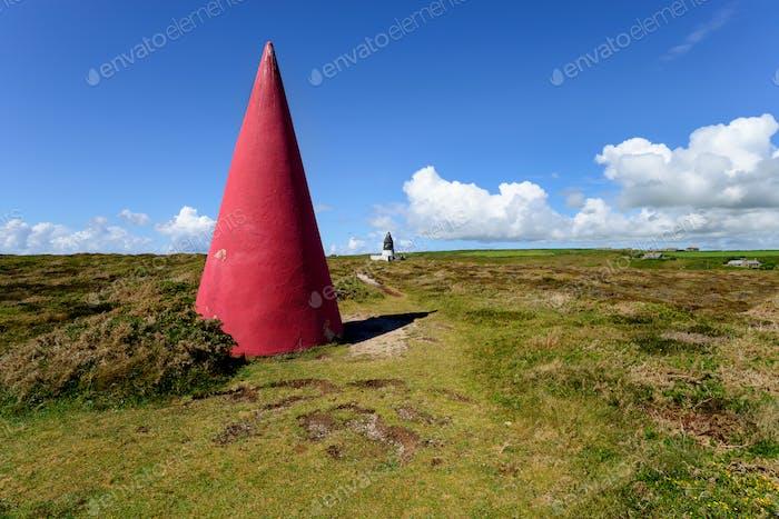 Daymarks on Gwennap Head in Cornwall