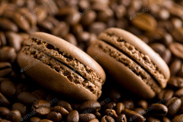 macarons with coffee flavor
