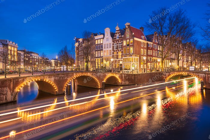Amsterdam, Netherlands Bridges and Canals