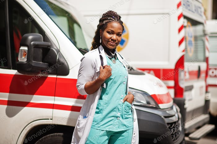 African female doctor