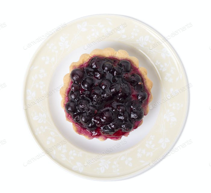 Tartlet with berries and fruit jelly.