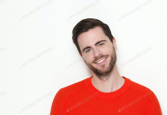 Good looking young man with beard smiling