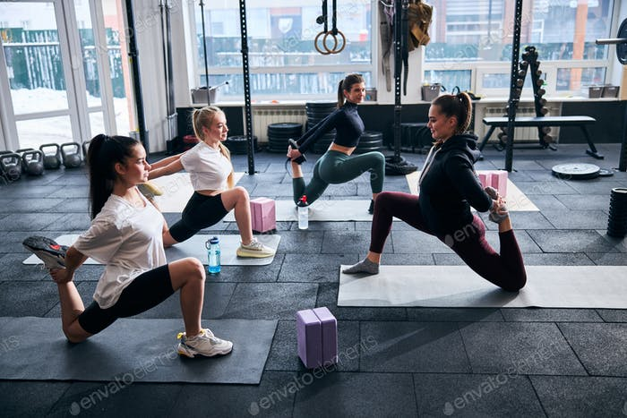 Flexible ladies maintaining their muscles in perfect shape