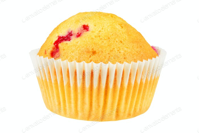 Fresh muffin isolated