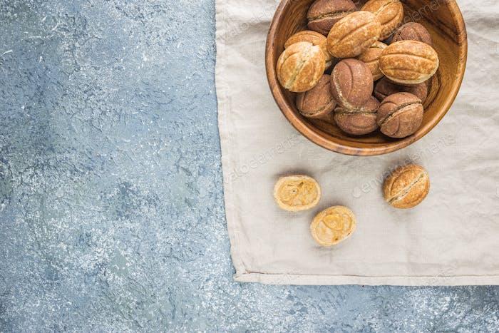 walnut shaped cookies
