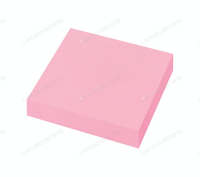 sticky post notes isolated