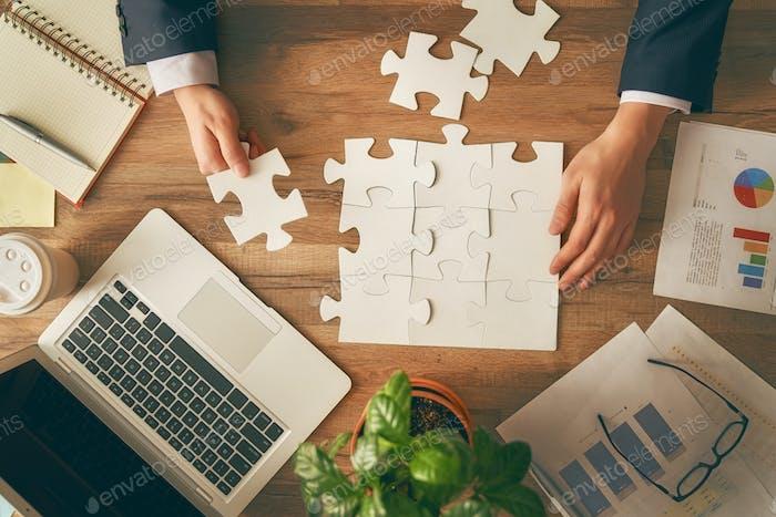 Konzept der Geschäftsstrategie.