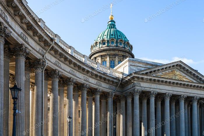 colonnade of Kazan Cathedral in Saint Petersburg