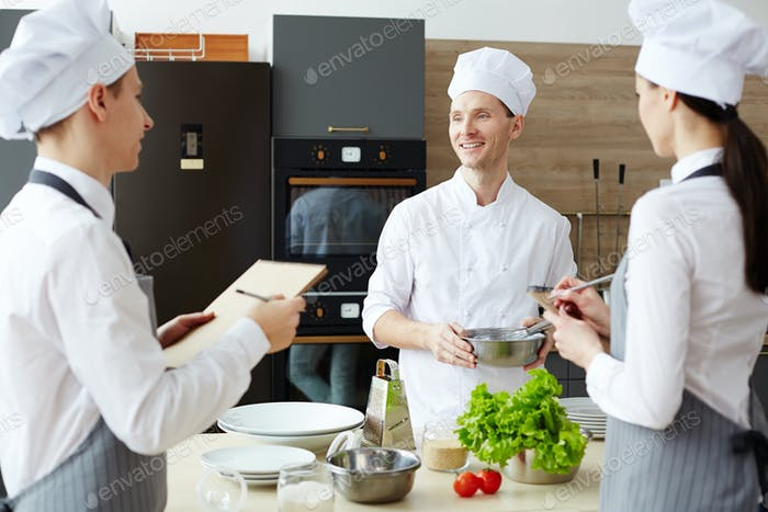Preparing new recipe together