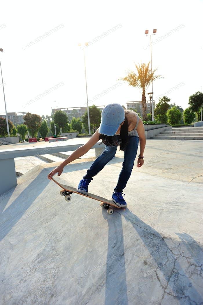 Ready to go skateboarding