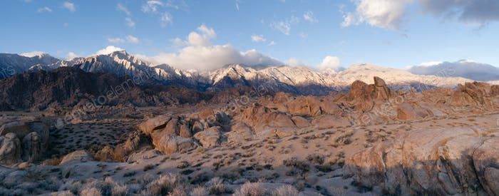 California Alpine Panoramic Alabama Hills Sierra Nevada Range CA