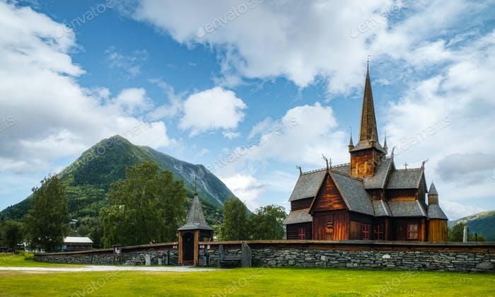 Old wooden Lom stave Church
