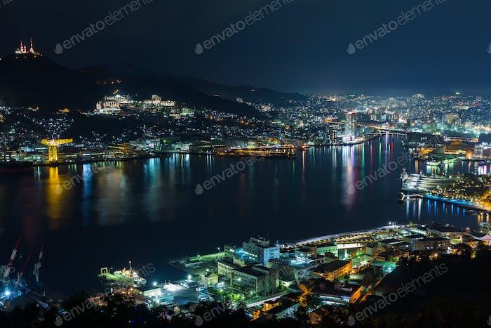 Nagasaki city of Japan