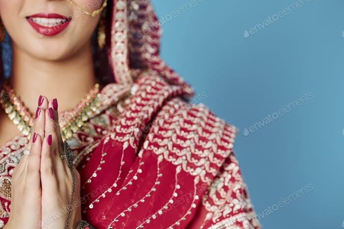 Indian respectful greeting