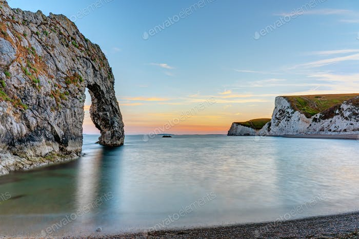 Durdle door at the Jurassic Coast