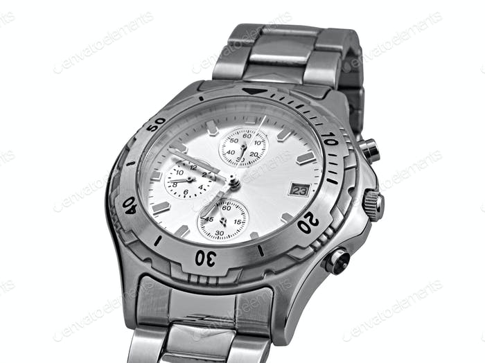 Automatic wrist watch - clipping path
