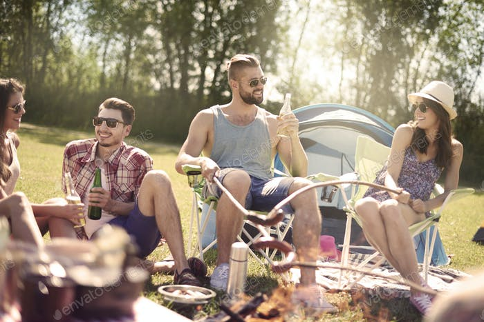Resting on the camping with my friends