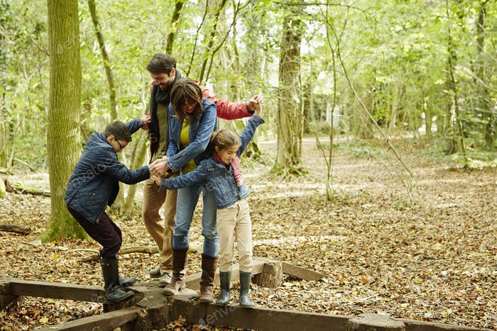 Beech woods in Autumn. Family fun