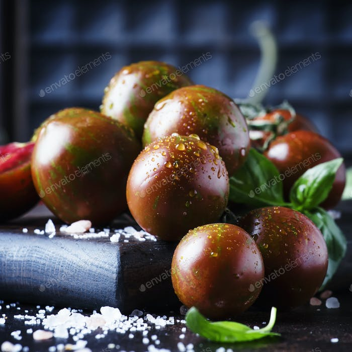 Brown cherry tomatoes