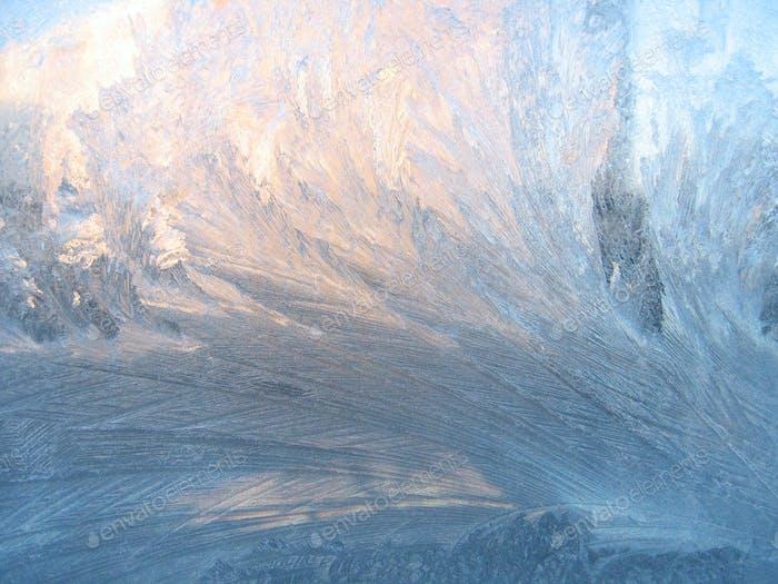 Frost und Sonnenlicht