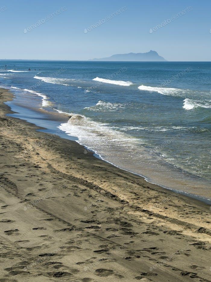 Capo Portiere, the beach of Latina