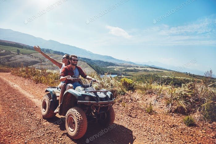 Couple on an off road adventure