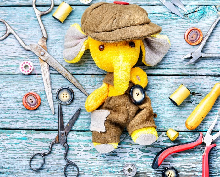 Handmade toy elephant